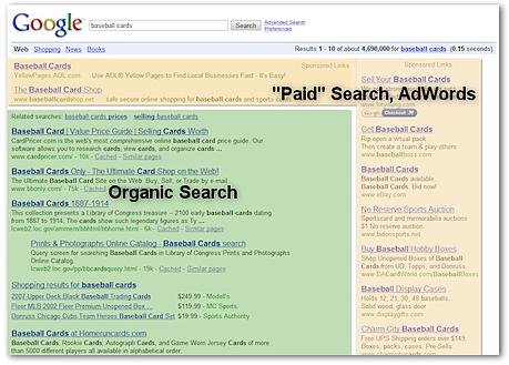 paid vs organic results