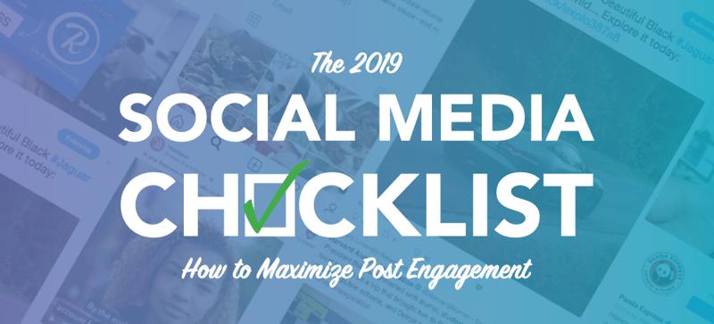 social media checklist xzito 2019
